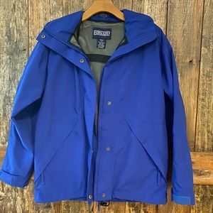 Lands' End, S, Blue, Outdoor, ZIP-Up,Hoodie,Jacket